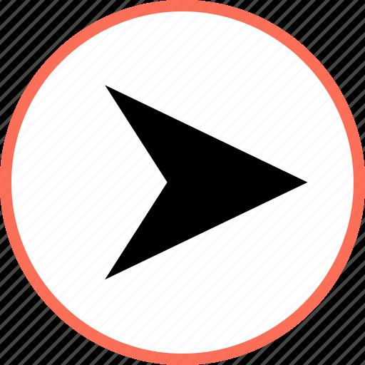 arrow, gps, right icon