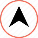 arrow, gps, point, up icon