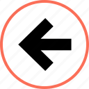 arrow, left, point icon