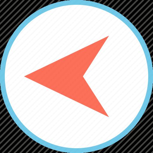 arrow, left, menu, point icon