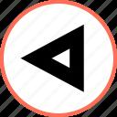left, navigation, rewind icon