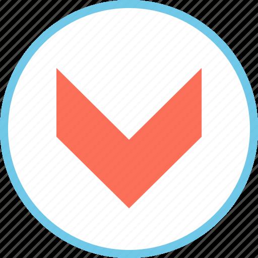 down, download, menu icon