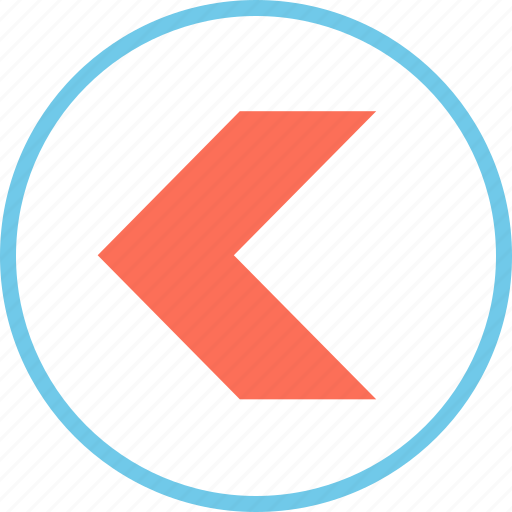 left, menu, pointer icon