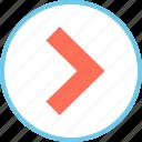 arrow, menu, point, right icon