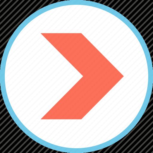 menu, pointer, right icon