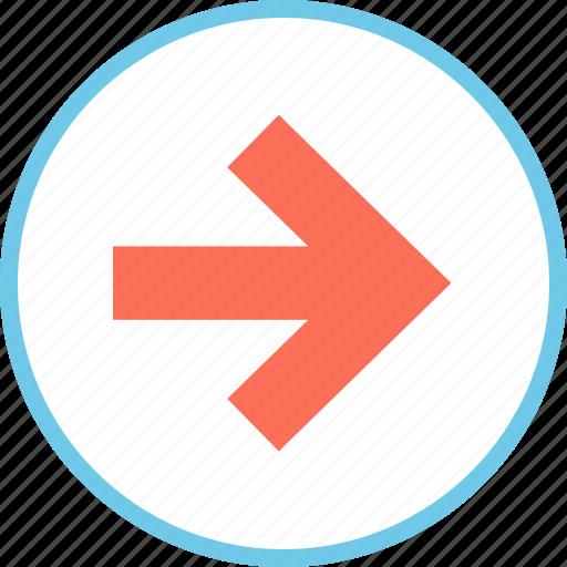 go, menu, point, right icon