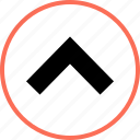 navigation, up, upward icon