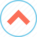 arrow, point, upward icon