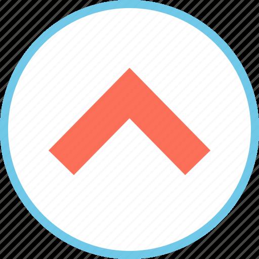 arrow, point, upward icon