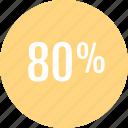 analytics, analyze, data, eighty, info, percent icon
