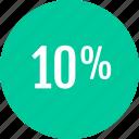 analytics, analyze, data, info, percent, ten icon