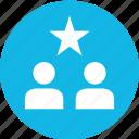analytics, analyze, data, info, star, two, users icon