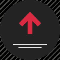 analytics, arrow, data, info, infographic, up, upload icon