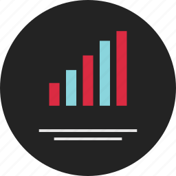 analytics, bars, data, info, infographic, line, up icon