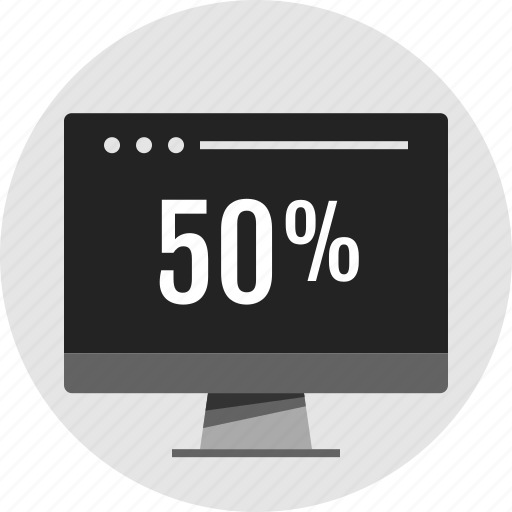 analytics, data, fifty, info, infographic, percent, rate icon