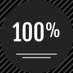 analytics, data, info, infographic, onehundred, percent, rating icon