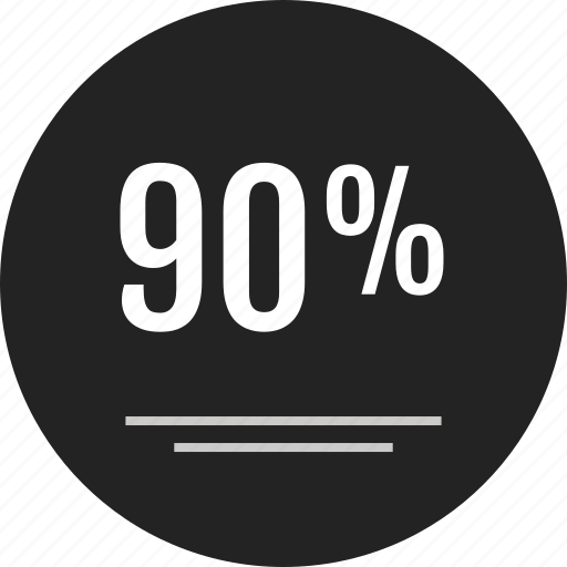 analytics, blackfriday, data, info, infographic, ninety, percent icon