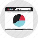analytics, data, info, infographic, pie, report, www icon
