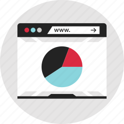 analytics, data, info, infographic, pie, report, www icon