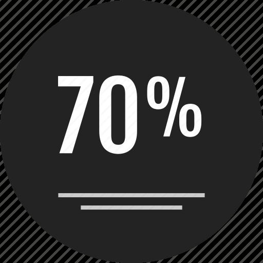 analytics, data, discount, info, infographic, percent, seventy icon