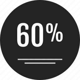 analytics, coupon, data, info, infographic, percent, sixty icon