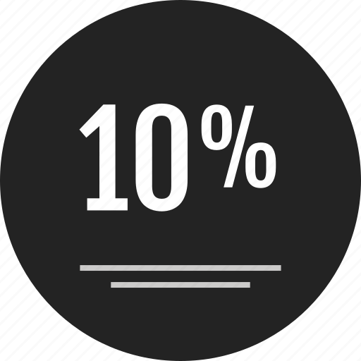analytics, data, info, infographic, off, percent, ten icon