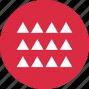 abstract, creative, design, triangles, twelve icon