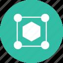 abstract, creative, design, edges, edit, hexagon, shape icon