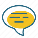bubble, comment, message, text icon