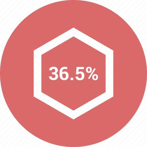 chart, graph, percent, percentage, pie, six, thirty icon