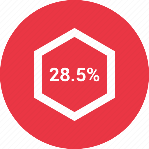 chart, diagram, eight, graph, percent, percentage icon