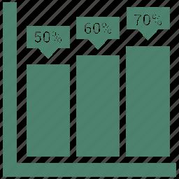 bar, chart, diagram, graph, growth, plan, progress icon