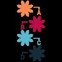 analytics, infographic, flower, pie chart
