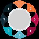 analytics, infographic, pie chart