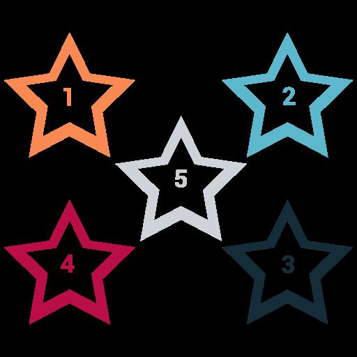 mark, rank, star, white icon