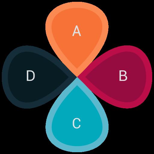 chart, flower, graph, market, pie icon