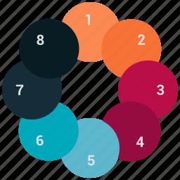 analytics, infographic, pie chart icon