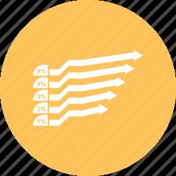 bar, chart, horizontal, stacked icon