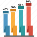 bar, graph, growth, ribbon icon