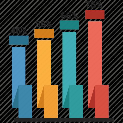 bar, graph, growth, ribbon icon