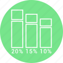 bar, business, chart, graph, growth icon