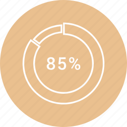 chart, circle, percentage, pie icon