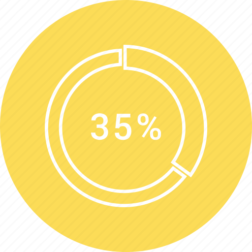 chart, circle, percentage, pie icon