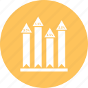 arrow, bar, chart, infographic icon