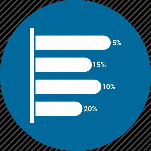 arrow, bar, chart, infographic icon