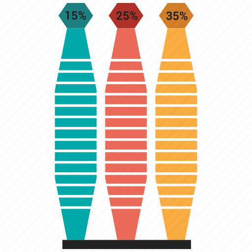 bar, chart, growth, infographic icon