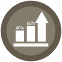 arrow, bar, bar chart, business, chart, graph icon