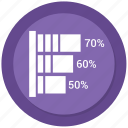 bar, bar chart, business, chart, graph, infographic icon