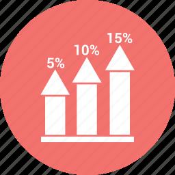 bar, chart, growth, growth bar, infographic icon