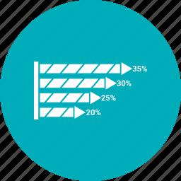 bar, growth chart icon